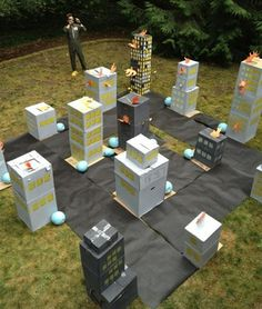 Adorable kaiju birthday party, idea for a kids play date or party