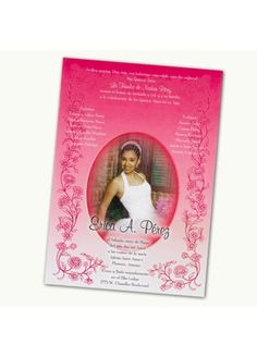 Quinceanera Scroll Invitations (Hot Pink, Purple, Turquoise, Lime, Gold, Tangarine, Royal Blue)