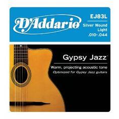D'Addario EJ83L Gypsy Jazz Jazz Light (.010-.044) Acoustic Guitar Strings