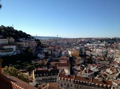 Beautiful view from Miradouro da Graca, Lisbon - grab a terrace drink from here for a great view of the city. Host recommended.
