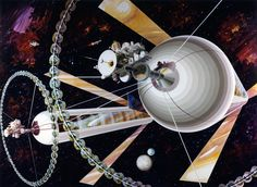 Thousands of people could be living in floating space colonies orbiting the Earth in 20 years'time, according to the head of a project by the British Interplanetary Society (BIS). And, while life in space might sound unappealing to some, Jerry Stone believe it could actually be healthier than planet Earth, enabling people to live longer and, eventually, grow taller.