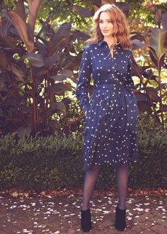 People Tree | Blue Dove Shirt Dress Made by CAOS, a socially responsible business based in India. CAOS, or Creative Art of Souls, produces a range of woven clothing for People Tree using organic and Fairtrade certified organic cotton.