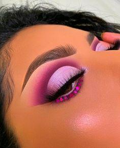 Dope Makeup, Baddie Makeup, Makeup Eye Looks, Beautiful Eye Makeup, Eye Makeup Art, Pink Makeup, Flawless Makeup, Eyeshadow Makeup, Makeup Inspo