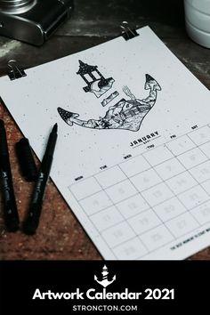 Der Kalender 2021 ist perfekt als Geschenk für Weihnachten. Jeden Monat ein detailliertes Stroncton Artwork, genug Platz für deine Termine / inspirierenden Spruch. Umweltschonendste Kalender / Digitaler Print. Versand per Mail / Kein Transport. Einfach hochwertige PDF Datei downloaden, ausdrucken / im Printshop deines Vertrauens. 1€ geht an THE STRONCTON FOUNDATION. Mehr Inspiration und Outfit Ideen, nachhaltige Mode und Accessoires findest du bei Stroncton im Online Shop #stroncton Monat, Digital Prints, My Design, Calendar, Cards Against Humanity, Motivation, Winter, Artwork, Accessories