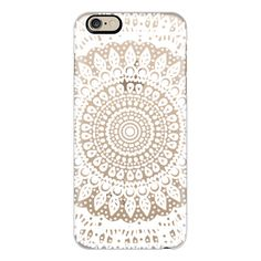 iPhone 6 Plus/6/5/5s/5c Case - Tribal Boho Mandala in White // Crystal... ($40) ❤ liked on Polyvore featuring accessories, tech accessories, iphone case, apple iphone cases, slim iphone case, tribal print iphone cases and iphone cover case
