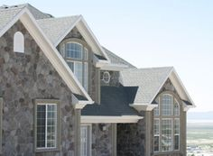 Fieldstone - Grey Weber Split Style At Home, Stone Gallery, Manufactured Stone, Home Fashion, Home Builders, Custom Homes, Natural Stones, Luxury Homes, Building A House