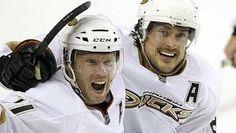 Saku Koivu and Teemu Selnne, Anaheim Ducks #hockey #NHL #Finland
