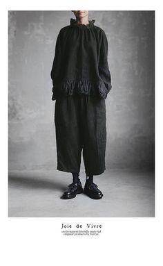 【送料無料】Joie de Vivreリネンウールツイルワッシャーグースパンツ Mori Fashion, Urban Fashion, Shabby Look, Casual Outfits, Fashion Outfits, Androgynous Fashion, Kintsugi, Wabi Sabi, Mode Inspiration