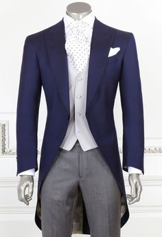 Dark Blue Morning Suit | Man Clothes on line | Made in Italy suits | Buy on the online shop.