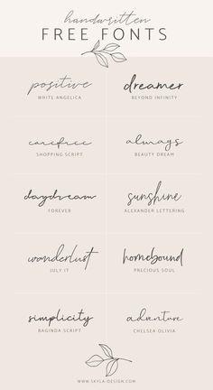 Handwritten free fonts – Skyla Design - You are in the right place about Handwritten free fonts – Skyla Design Tattoo Design And Style G - Tattoo Fonts Cursive, Hand Lettering, Lettering Tattoo, Free Tattoo Fonts, Delicate Tattoo Fonts, Number Tattoo Fonts, Best Tattoo Fonts, Script Tattoos, Arabic Tattoos