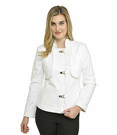 Peter Nygard Woman PatentTrim Jacket #Dillards