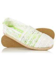 New Womens Superdry Jetstream Lace Espadrilles White Slip On Espadrilles, Superdry, Partner, Streetwear Brands, Latest Trends, Women Wear, Luxury Fashion, Heels, Boots
