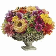 Lily & Rose Silk Floral Centerpiece ARWF1022