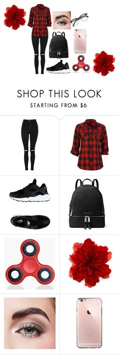 """School outfit"" by annajimin ❤ liked on Polyvore featuring Topshop, Full Tilt, NIKE, MICHAEL Michael Kors, Boohoo, Gucci and Avon"