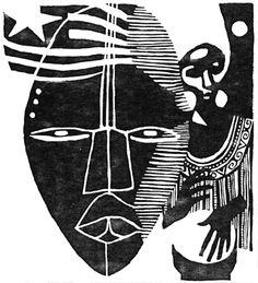 Bea Sandler: The African Cookbook and Diane Dillon. - Tekpwfari Stix El Ra - Bea Sandler: The African Cookbook and Diane Dillon. Bea Sandler: The African Cookbook and Diane Dillon. Arte Tribal, Tribal Art, Art And Illustration, Illustrations, African Masks, African Art, Lambada, Arte Inspo, Tribal Images