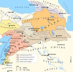 Maps of the Armenian Empire of Tigranes - Armenië - Wikipedia