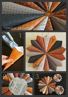 Halloween is upon us. Need a fun inexpensive wreath to spruce up your door or wall? Make this in 20 minutes! Just scrapbook paper, hot glue...