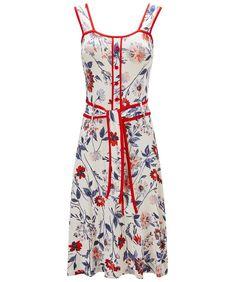 Joe Browns Skaterkleid »Joe Browns Womens Sleeveless Jersey Dress in All Over Floral Print« für 46,00€. Unser Modell ist: 1.75 m, Ungefähre Länge: 96cm bei OTTO