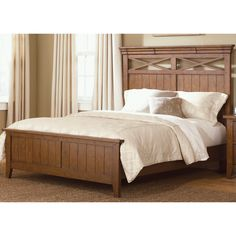 Liberty Heathstone King-size Panel Bed | Overstock.com