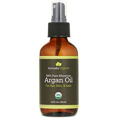 ActuallyOrganic Argan Oil Hair Face Skin Nails Beard-NOT SYNTHETIC-NO BAD SMELL- 100% Pure USDA Organic-Lab Tested for Purity-Silky Smooth Hair-Softer Skin-Anti Aging-Cold Pressed Unrefined Virgin -- Visit the image link more details. (This is an affiliate link and I receive a commission for the sales)