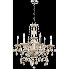 Quorum Katerina 6 Light Candle Chandelier