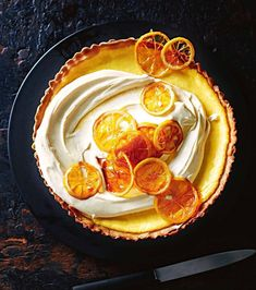 lemon and ricotta tart I make something similar to this with grapefruit... I love it. Already getting requests for fall and winter catering... lets do this. #thatgirlcancook