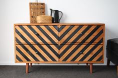 Beautiful dresser makeover by Draw'n In
