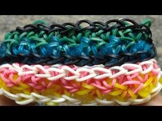 Rainbow Loom BUBBLEZAG Bracelet. Designed and loomed by Mario at OfficiallyLoomed. Click photo for YouTube tutorial. 01/29/14.