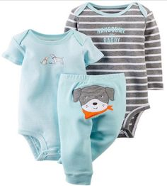 Newborn set Todays SuperDeals 50% off  Original Baby Girls Boys clothing sets ,conjuntos Clothes Baby bebes Girls Boys 3-piece Bodysuit Pant Set , standard shipping