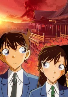 Yomiuri TV's official website for the Detective Conan TV anime franchise announced today that a new one-hour TV special Kurenai no Shugaku Ryokou-hen . Detective Conan Shinichi, Manga Detective Conan, Ran And Shinichi, Kudo Shinichi, Magic Kaito, Anime Demon, Manga Anime, Air Gear Characters, Konan
