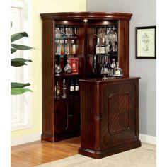 Corner Home Bar, Corner Bar Cabinet, Corner Curio, Home Bar Cabinet, Cabinet Space, China Cabinet Bar, Bar Cabinets For Home, Cabinet Ideas, Shelf Ideas