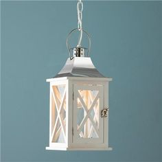 Hamptons Wooden Lantern - Small Inspired by classic Hamptons' style, our exclusive wooden lanterns are available in 2 finishes and 2 sizes