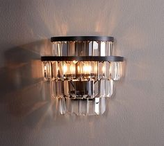 Gemma Crystal Tiered Sconce by Pottery Barn - $258 for set of 2