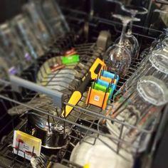Heute will jeder die Spülmaschine einräumen. #surprise