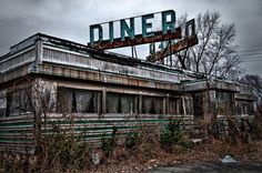 Abandoned Diner.. Reminds me of Abondoned Luncheonette by Hall & Oates