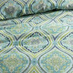 Turquoise Capri Tile Duvet Cover - Full/Queen