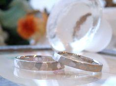 プラチナの槌目春(オーダーメイド/手作り) お揃いのデザイン。槌目の結婚指輪 marriage,wedding,bridal,ring,Pt900,ith,イズ,