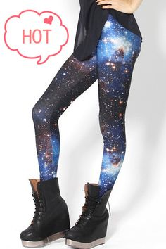 Fashion Galaxy Print Leggings.. Have these... I've never work them .. Smh