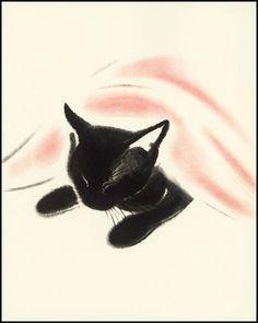 Cat Nap Print | Paragon Vintage Prints