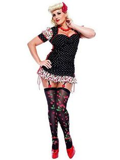 Sexy Pin Up Girl Adult Plus Size | Wholesale 50's Costumes Halloween Costumes for Sexy