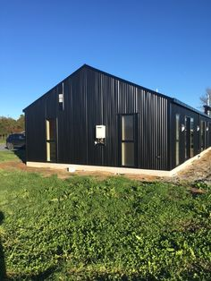 Coresteel Buildings creates quality steel homes that will stand the test of time. We can custom-design your house to suit your specific needs. Shed With Loft, Shed With Porch, Modern Barn House, Barn House Plans, Metal Barn Homes, Pole Barn Homes, Steel Building Homes, Building A House, Barn House Conversion