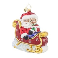 The Jolly Christmas Shop - Christopher Radko Let's Go For a Ride, Darling! Glass Christmas Ornament 1017986, $60.00 (http://www.thejollychristmasshop.com/christopher-radko-lets-go-for-a-ride-darling-glass-christmas-ornament-1017986/?page_context=category