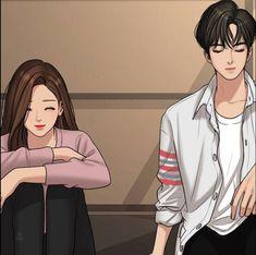 Hot Anime Couples, Hot Anime Boy, Cute Anime Guys, Cute Couples, Real Beauty, True Beauty, Pink Neon Sign, Korean Anime, Cute Couple Art