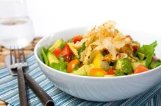 Heirloom Tomato and Avocado Salad with Crisp Wontons Resized