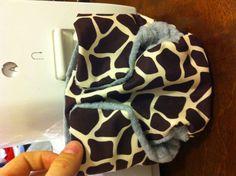 Homemade cloth diaper--Giraffe print size newborn