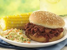 Slow Cooker Beef and Pork Barbecue Sandwiches