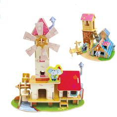 New 3D Puzzle toys House Villa model Wooden puzzle toys Robotime Educational Learning toys DIY 3D three-dimensional Jigsaw