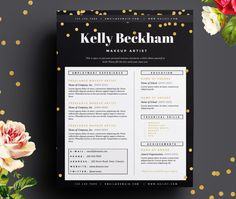 Design Resources Resume & Cover Letter Template - Makeup Artist Template Package - Resume Design, Cover Letter Design - Makeup Artist Resume