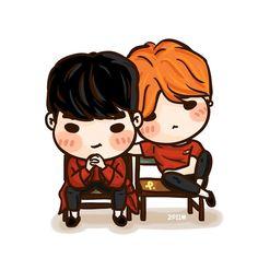 「 [fanart] #GTOP in RED ( GQ Korea ) #TOP #GD #BIGBANG 」