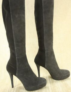 Stuart Weitzman Tall Skyline suede high heel boots stretch